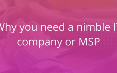 Why you need a nimble IT company or MSP